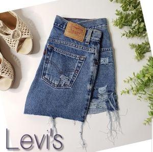 Levi's cutoff high rise denim shorts vintage